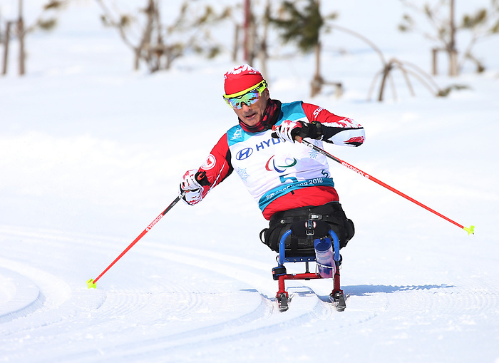 Pyeongchang, Korea, 11/3/2018-Yves Bourque competes in the 15k sitting cross country during the 2018 Paralympic Games in PyeongChang. Photo Scott Grant/Canadian Paralympic Committee.
