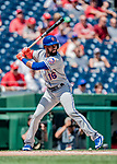 1 August 2018: New York Mets outfielder Austin Jackson in action against the Washington Nationals at Nationals Park in Washington, DC. The Nationals defeated the Mets 5-3 to sweep the 2-game weekday series. Mandatory Credit: Ed Wolfstein Photo *** RAW (NEF) Image File Available ***