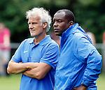Nederland, Papendal, 1 juli 2012.Seizoen 2012-2013.Eerste training Vitesse .Fred Rutten, de nieuwe trainer-coach van Vitesse en Stanley de assistent-coach van Vitesse