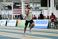 WINSTON-SALEM, NC - FEBRUARY 07: Evan Simmons #5 of Wake Forest University runs in the Men's 200 Meters at JDL Fast Track on February 07, 2020 in Winston-Salem, North Carolina.