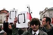 10.04.2010 Warsaw, Poland.<br /> People mourning the tragic death of President Lech Kaczynski and his wife in front of the presidential residence.<br /> <br /> Photo: Ewa Meissner / Napo Images<br /> <br /> 10.04.2010 Warszawa, Polska.<br /> Zaloba po tragicznej smierci Prezydenta Lecha Kaczynskiego i jego malzonki,ul. Krakowskie Przedmiescie przed Palacem Prezydenckim.<br /> <br /> fot. Ewa Meissner/ Napo Images