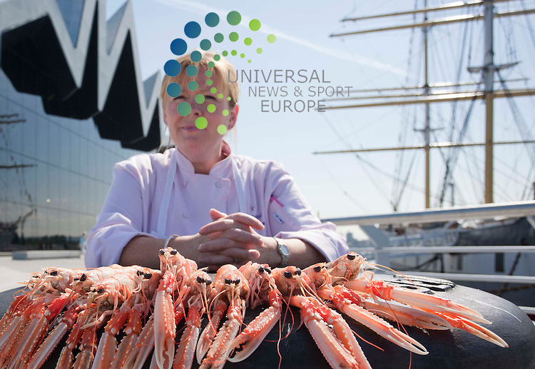 Leading Scottish chef Jacqueline O'Donnell, ( in Pic) launches the Riverside Seafood Festival,Some of Scotland's top chefs and leading names in the restaurant business will be at the Riverside Museum on Saturday 6 and Sunday 7 August for the first-ever Riverside Seafood Festival. The free event promises to be a truly unique showcase of the very best Scottish seafood and culture, on the banks of the River Clyde. It is open from 10am to 8pm on Saturday and 11am to 8pm on Sunday. Museum opening times will be the same, giving people an extra incentive to come along.   .Picture: Johnny Mclauchlan Universal News and Sport (Europe)27/07/2011