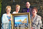 ....ART: Nora Diggins (right) Causeway shows off her masterpice at the Tralee Art Group exhibition in Siamsa Tire Tralee on Saturday evening admiring Nora's painting of Meenagahane L-r: Angela Kerins, Phil Daly (chairperson of TAG), Karl Wallace (Dir Siamsa Tire) and Nora Diggins...... ..