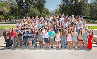 Group photo of the student and faculty participants in this year's annual summer research program, organized by Oxy's Undergraduate Research Center. (Photo by Marc Campos, Occidental College Photographer)
