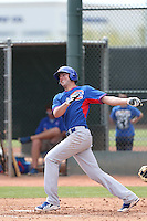 Kris Bryant of the Chicago Cubs bats during a Minor League Spring Training Game against the Los Angeles Angels at the Los Angeles Angels Spring Training Complex on March 23, 2014 in Tempe, Arizona. (Larry Goren/Four Seam Images)