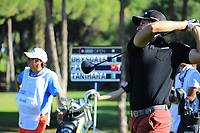Andrea Pavan (ITA) in action during the first round of the Turkish Airlines Open, Montgomerie Maxx Royal Golf Club, Belek, Turkey. 07/11/2019<br /> Picture: Golffile | Phil INGLIS<br /> <br /> <br /> All photo usage must carry mandatory copyright credit (© Golffile | Phil INGLIS)