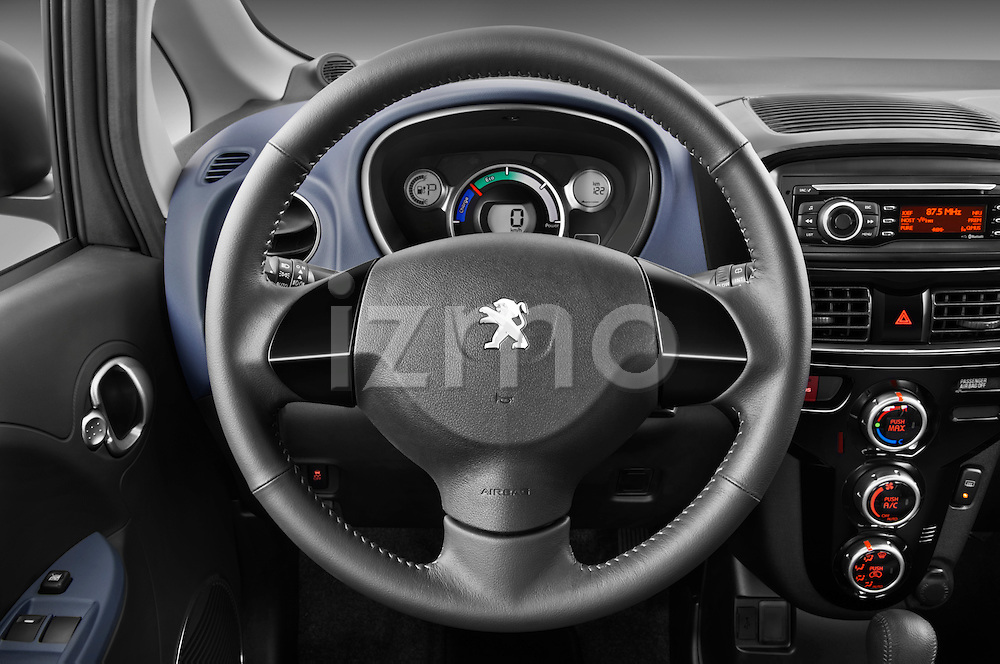 Steering wheel view of a 2012 Peugeot iOn