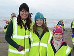 Ann, Moya and Clara McVeigh who took part in the St Mary's Drumcar 5K run on Bettystown beach. Photo:Colin Bell/pressphotos.ie