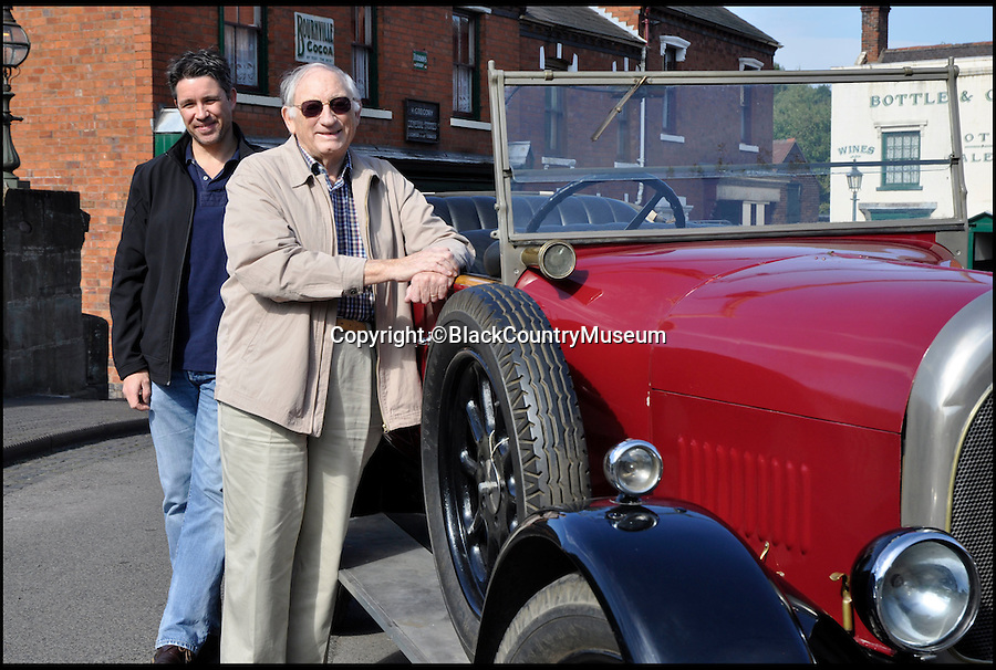 BNPS.co.uk (01202 558833)<br /> Pic: BlackCountryMuseum/BNPS<br /> <br /> ***Please Use Full Byline***<br /> <br /> Graeme French and son Timothy came all the way from Australia to take a spin in his Grandfather's 1925 'Bean 14' car after the family discovered it refurbished and on display at the Black Country Living Museum.<br /> <br /> Intrepid Graeme French has travelled 9,000 miles to drive his late grandfather's vintage car after finding it had been saved by a British museum.<br /> <br /> Graeme, 77, recalled sitting in the the 1925 Bean 14 motor with grandfather Thomas Woodall as a young boy.<br /> <br /> After Mr Woodall suffered from ill-health in the 1940s he put the red car in a garage he owned in Smethwick in Birmingham where it remained untouched for years.<br /> <br /> It was only when the lease on the garage expired and his widow was reminded of the car that it finally left the family.