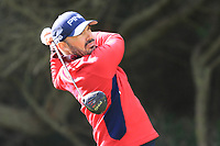 Gregory Havret (FRA) on the 8th tee during Round 2 of the Challenge Tour Grand Final 2019 at Club de Golf Alcanada, Port d'Alcúdia, Mallorca, Spain on Friday 8th November 2019.<br /> Picture:  Thos Caffrey / Golffile<br /> <br /> All photo usage must carry mandatory copyright credit (© Golffile | Thos Caffrey)
