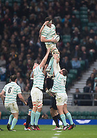 Twickenham, United Kingdom. Andrew HUNTER, collecting the line out ball, during the  Men's Varsity Rugby, [Oxford vs Cambridge],Twickenham. UK, at the RFU Stadium, Twickenham, England, <br /> <br /> Thursday  08/12/2016<br /> <br /> [Mandatory Credit; Peter Spurrier/Intersport-images]