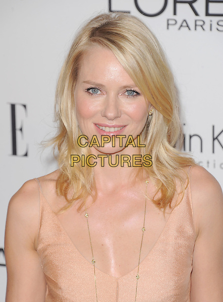 Naomi Watts.18th Annual ELLE Women in Hollywood celebration held at The Four Seasons in Beverly Hills, California, USA..October 17th, 2011.headshot portrait nude beige.CAP/RKE/DVS.©DVS/RockinExposures/Capital Pictures.