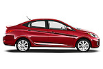 Driver side profile view of a 2012 Hyundai Accent GLS Sedan .