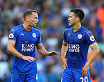 Daniel Drinkwater of Leicester City and Shinji Okazaki of Leicester City during the Premier League match at Anfield Stadium, Liverpool. Picture date: September 10th, 2016. Pic Simon Bellis/Sportimage