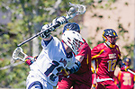 Los Angeles, CA 04/01/16 - Coleman Lee (USC #12) and Owen McNiff (Loyola Marymount #13) in action during the University of Southern California and Loyola Marymount University SLC conference game  USC defeated LMU.