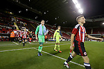 Sheffield United's Regan Slater leads out the team during the FA Youth Cup First Round match at Bramall Lane Stadium, Sheffield. Picture date: November 1st 2016. Pic Richard Sellers/Sportimage