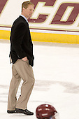 Greg Brown (BC - Assistant Coach) - The Boston College Eagles defeated the Providence College Friars 7-0 on Saturday, February 25, 2012, at Kelley Rink at Conte Forum in Chestnut Hill, Massachusetts.