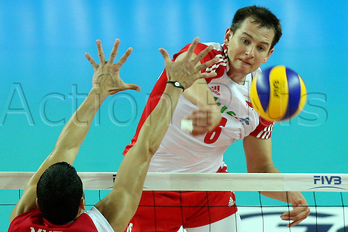 24.06.2011. Plock, Poland.   VOLLEYBALL, WORLD LEAGUE,  Poland versus Puerto Rico International.  BARTOSZ KUREK (POL).
