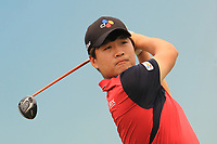 Minkyu Kim (KOR) on the 10th tee during Round 4 of the Australian PGA Championship at  RACV Royal Pines Resort, Gold Coast, Queensland, Australia. 22/12/2019.<br /> Picture Thos Caffrey / Golffile.ie<br /> <br /> All photo usage must carry mandatory copyright credit (© Golffile   Thos Caffrey)