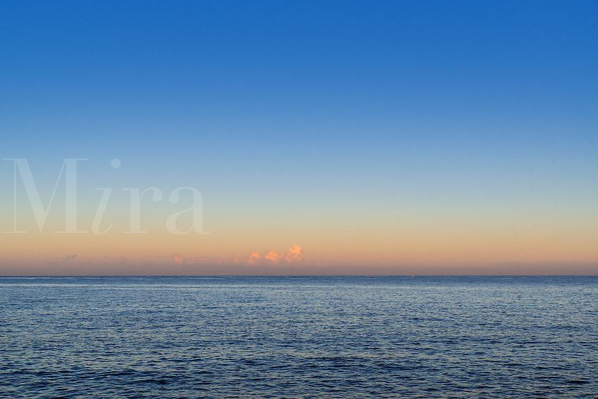 Dawn sky and ocean, Negril, Jamaica
