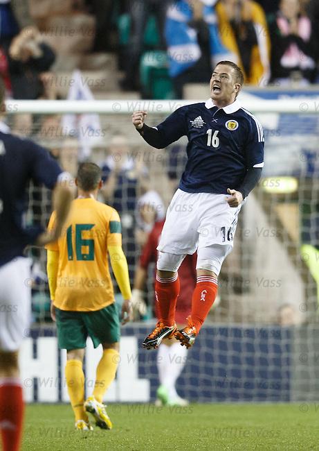 Ross McCormack celebrates his goal for Scotland