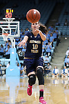 16 February 2017: Georgia Tech's Katarina Vuckovic (SRB). The University of North Carolina Tar Heels hosted the Ramblin' Wreck from Georgia Tech University at Carmichael Arena in Chapel Hill, North Carolina in a 2016-17 NCAA Division I Women's Basketball game. North Carolina won the game 89-88.