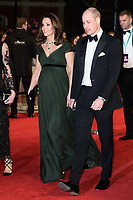 Prince William, Duke of Cambridge &amp; Catherine, Duchess of Cambridge arriving for the BAFTA Film Awards 2018 at the Royal Albert Hall, London, UK. <br /> 18 February  2018<br /> Picture: Steve Vas/Featureflash/SilverHub 0208 004 5359 sales@silverhubmedia.com