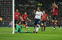 Tottenham Hotspur's Harry Kane scores his side's first goal  <br /> <br /> Photographer Rob Newell/CameraSport<br /> <br /> The Premier League - Tottenham Hotspur v Southampton - Wednesday 5th December 2018 - Wembley Stadium - London<br /> <br /> World Copyright © 2018 CameraSport. All rights reserved. 43 Linden Ave. Countesthorpe. Leicester. England. LE8 5PG - Tel: +44 (0) 116 277 4147 - admin@camerasport.com - www.camerasport.com