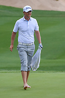 Matt Jones (AUS) prepares to mark his ball after hitting from the water on 18 during day 3 of the Valero Texas Open, at the TPC San Antonio Oaks Course, San Antonio, Texas, USA. 4/6/2019.<br /> Picture: Golffile | Ken Murray<br /> <br /> <br /> All photo usage must carry mandatory copyright credit (&copy; Golffile | Ken Murray)