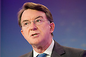 Lord Peter Mandelson, Labour Party election campaign press conference, London.