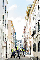 A Segway tour with the San Francisco Electric Tour Company takes you through historic streets in the North Beach neighborhood. San Francisco, California. (pictured: Jasper Place)