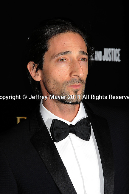 LOS ANGELES, CA - January 13: Adrien Brody attends Save The Children's U.S. Programs And Artists For Peace And Justice Hosted By Bulgari at Ron Burkle's Green Acres Estate on January 13, 2011 in Beverly Hills, California.