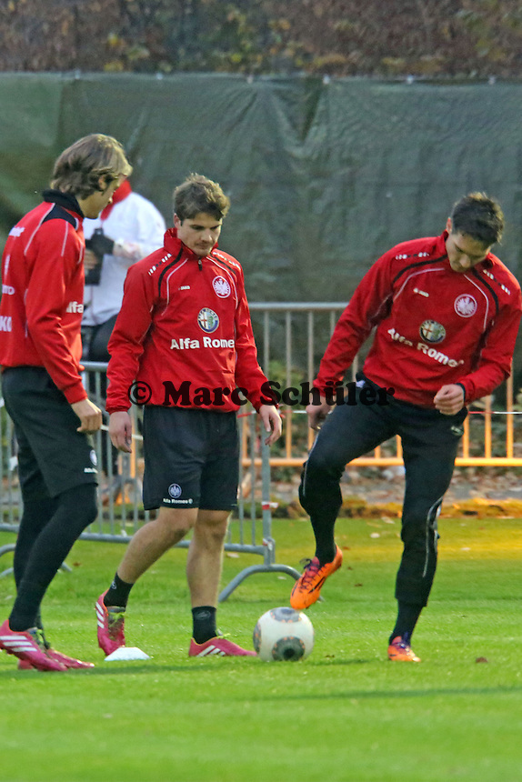Martin Lanig, Pirmin Schwegler, Srdjan Lakic (Eintracht)