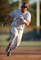 STOCKTON, CA - May 9, 2011: Tyler Gaffney of Stanford baseball rounds third for home on a Stephen Piscotty double during Stanford's game against Pacific at Klein Family Field in Stockton. Stanford won 11-5.