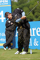 Lee Westwood tees off on the 4th hole during the third round of the Irish Open on 19th of May 2007 at the Adare Manor Hotel & Golf Resort, Co. Limerick, Ireland. (Photo byEoin Clarke/NEWSFILE).