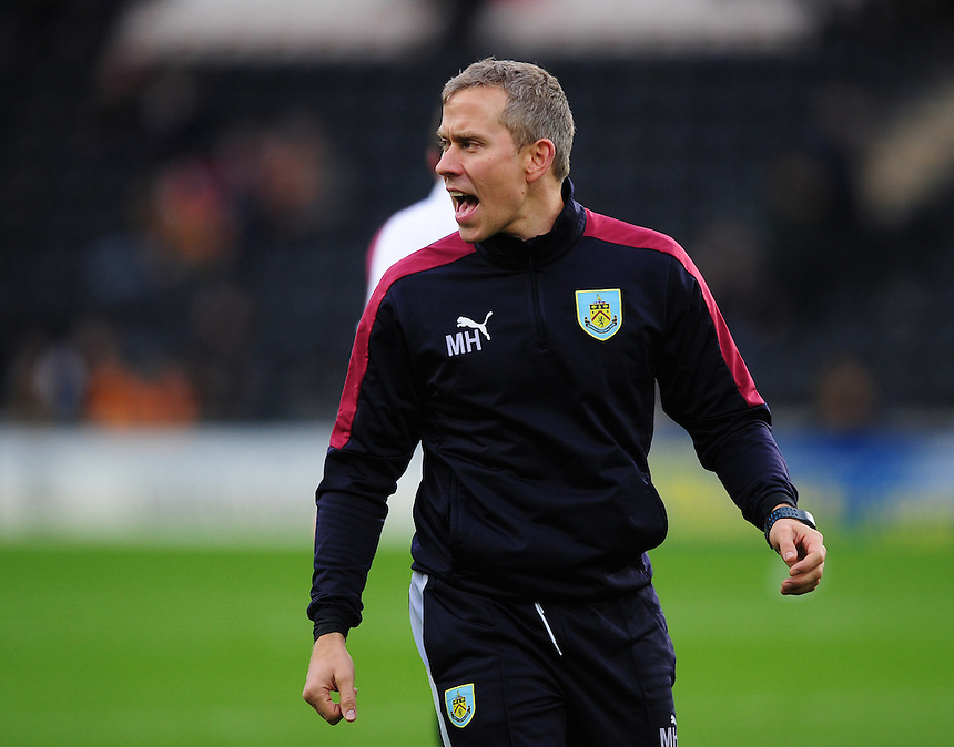 Burnley&rsquo;s head of sports science Mark Howard during the pre-match warm-up <br /> <br /> Photographer Chris Vaughan/CameraSport<br /> <br /> Football - The Football League Sky Bet Championship - Hull City v Burnley - Saturday 26th December 2015 - Kingston Communications Stadium - Hull<br /> <br /> &copy; CameraSport - 43 Linden Ave. Countesthorpe. Leicester. England. LE8 5PG - Tel: +44 (0) 116 277 4147 - admin@camerasport.com - www.camerasport.com