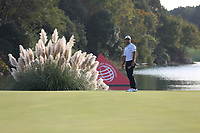 Xander Schauffele (USA) on the 18th green during the final round of the WGC HSBC Champions, Sheshan Golf Club, Shanghai, China. 03/11/2019.<br /> Picture Fran Caffrey / Golffile.ie<br /> <br /> All photo usage must carry mandatory copyright credit (© Golffile | Fran Caffrey)