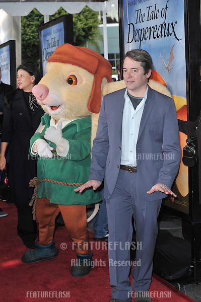 "Matthew Broderick at the world premiere of his new movie ""The Tale of Despereaux"" at the Arclight Theatre, Hollywood..December 7, 2008  Los Angeles, CA.Picture: Paul Smith / Featureflash"