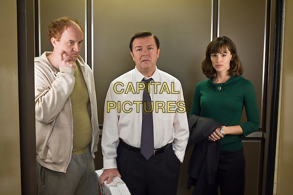 LOUIS C.K., RICKY GERVAIS & JENNIFER GARNER.in The Invention of Lying .*Filmstill - Editorial Use Only*.CAP/FB.Supplied by Capital Pictures.