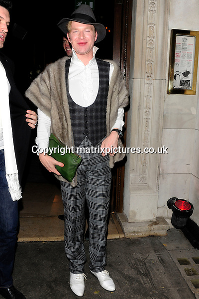 NON EXCLUSIVE PICTURE: MATRIXPICTURES.CO.UK<br /> PLEASE CREDIT ALL USES<br /> <br /> WORLD RIGHTS<br /> <br /> English socialite Henry Conway is spotted as she leaves Kelly Brook's 34th birthday celebrations at new venue Steam &amp; Rye in London, England.<br /> <br /> NOVEMBER 24th 2013<br /> <br /> REF: ASI 137567