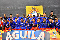BARRANQUILLA - COLOMBIA ,08-06-2019: Formación del Deportivo Pasto ante el Atlético Junior durante el primer partido de la final de la Liga Águila I 2019 jugado en el estadio Metropolitano Roberto Meléndez de la ciudad de Barranquilla . /Team of  Deportivo Pasto agaisnt of Atletico Junior during the first game of the Liga Águila I 2019 final played at the Metropolitan Stadium Roberto Meléndez of the city of Barranquilla . Photo: VizzorImage / Alfonso Cervantes / Contribuidor.