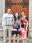 Aisling Crinion who was confirmed at The Church of the Immaculate Conception Termonfeckin pictured with her parents Fergal and Sandra. Photo:Colin Bell/pressphotos.ie