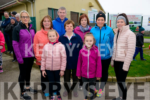 front l-r Caoimhe O'Callaghan, Kathleen McCarthy and Abbie McGuire back l-r Trisha O'Callaghan Elizabeth Sweeney, Padraig Healy, Suzanne Healy, Rachel Gorman and Claire Tangney all from Kilcummin pictured at 5K and 10K Memorial Walk in memory of Catherine O'Leary and Mary Lynch in the Klub Bar, Kilcummin last Saturday