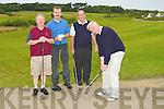 BUNKERED: Mark Hanley capt of Killorglin Golf Club with fellow team mates playing in the County Kerry Federation Golf Tourment at Ballyheiugue Golf Club on Saturday morning. l-r: Jim McCarthy, Donal Pigott, William O'Shea and Mark Hanley.....