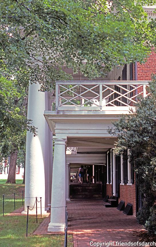Thomas Jefferson: Univ. of Virginia--Lawn Passageway, east side.  Photo '85.