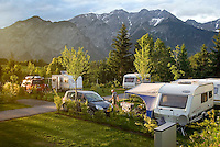 Natters, Tyrol, Austria, June 2009.  Camping Natterer See near Innsbruck. The City of Innsbruck boasts an old historical center and is set in the Inn valley surrounded by high mountains. Photo by Frits Meyst/Adventure4ever.com