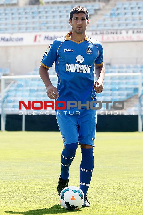 Getafe's new player Lisandro Ezequiel Lopez during his official presentation. September 3, 2013. Foto © nph / Acero)