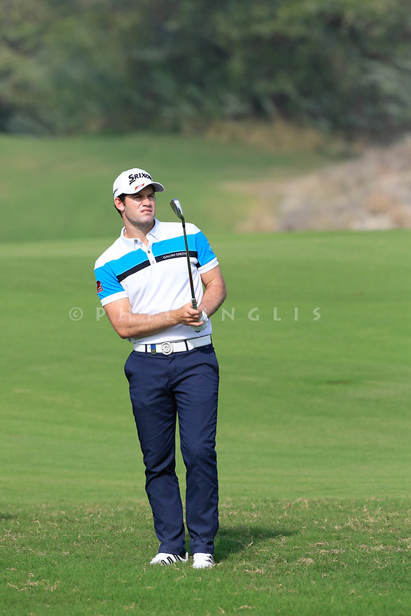 Ricardo Gouveia (POR) during the second round of the Commercial Bank Qatar Masters played at Doha Golf Club, Qatar. 23/02/2018<br /> Picture: Golffile | Phil Inglis<br /> <br /> <br /> All photo usage must carry mandatory copyright credit (&copy; Golffile | Phil Inglis)