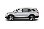 Car Driver side profile view of a 2016 Honda Pilot Touring 5 Door Suv Side View