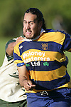 A. Poa is all determination as he is scragged in a tackle. Counties Manukau Premier Club Rugby, Patumahoe vs Manurewa played at Patumahoe on Saturday 6th May 2006. Patumahoe won 20 - 5.